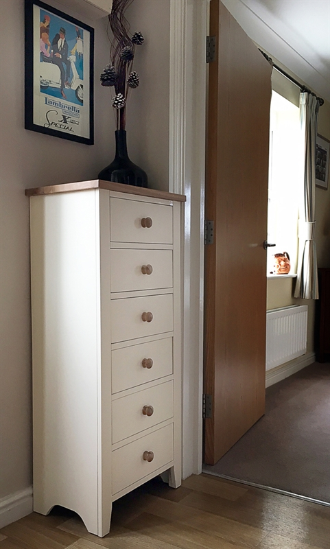 Mottisfont Painted Tall 6 Drawer Chest The Cotswold Company