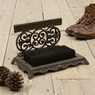 Ornate Shoe Scraper and Brush