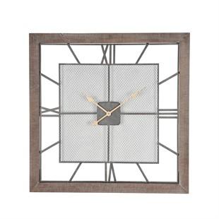 Hamilton Square Wall Clock - Natural Wood