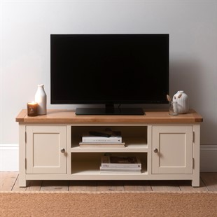"""Sussex Cotswold Cream Widescreen TV Unit - Up to 60"""""""