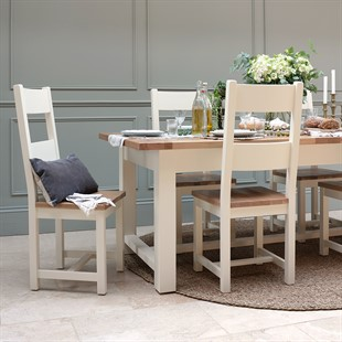 Sussex Cotswold Cream 220-265-310cm Table and 8 Chairs