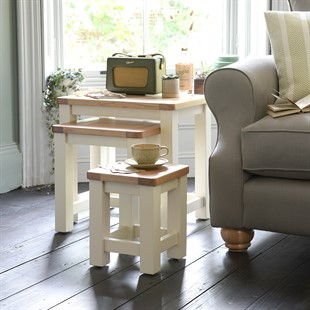 Sussex Cotswold Cream Nest of Tables