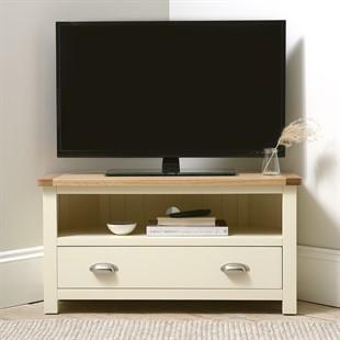 Sussex Cotswold Cream Corner TV Unit - Up to 44''