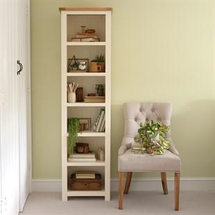 Sussex Cotswold Cream Tall Slim Bookcase