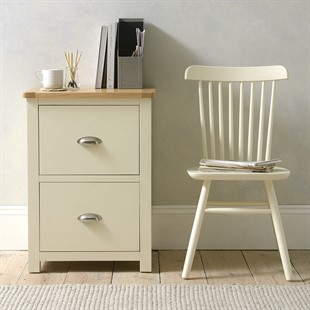 Sussex Cotswold Cream 2 Drawer Filing Cabinet