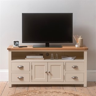 """Sussex Cotswold Cream TV and Media Unit - Up to 62"""""""