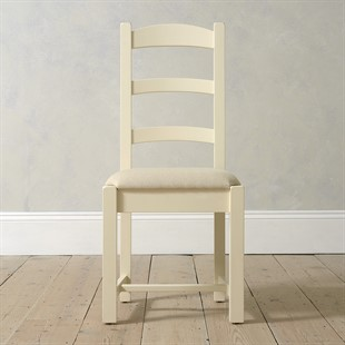 Sussex Cotswold Cream Ladderback Chair Linen Seat Pad