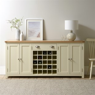 Sussex Cotswold Cream Extra Large Sideboard with Wine Rack