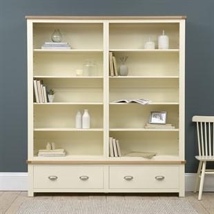 Sussex Cotswold Cream Grand Bookcase