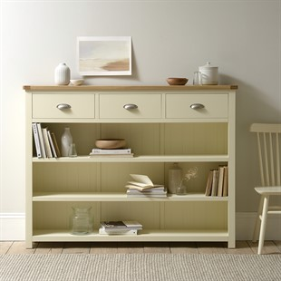 Sussex Cotswold Cream Tall and Wide Bookcase