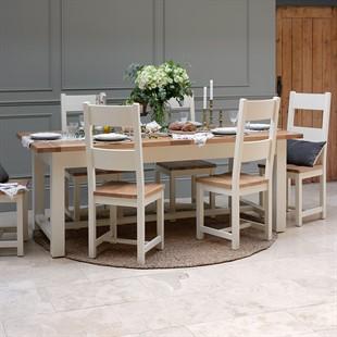 Sussex Cotswold Cream 180-220-260cm Extending Table