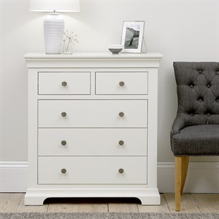 Chantilly Warm White 2 Over 3 Drawer Chest