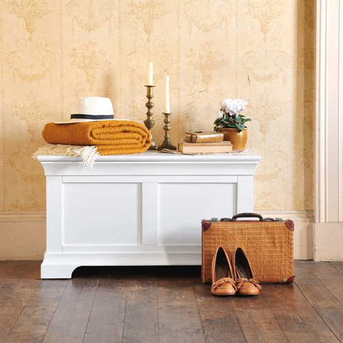 White Painted Blanket Box