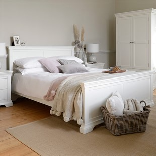 """Chantilly Warm White 4ft 6"""" Double Bed"""