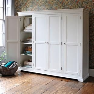 Chantilly Warm White Four Door Wardrobe