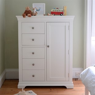 Chantilly Warm White Combination Wardrobe