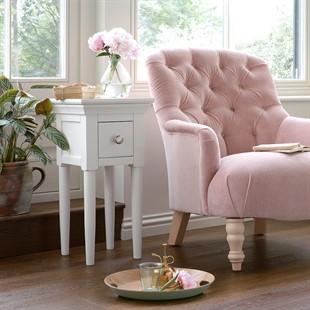 Chantilly Warm White Narrow Bedside