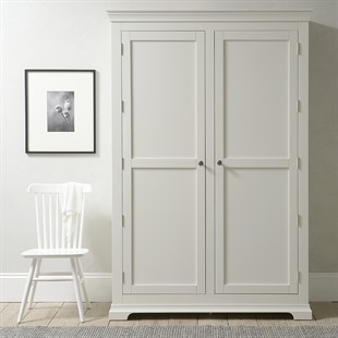 Chantilly Warm White Grand Double Wardrobe