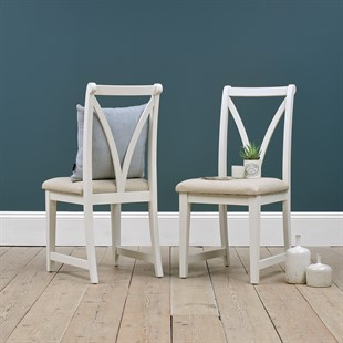 Chantilly Warm White Dining Chair