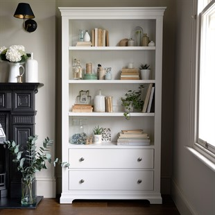 Chantilly Warm White Large Bookcase