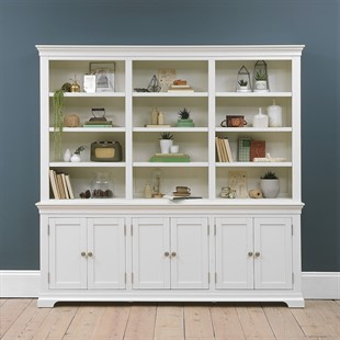 Chantilly Warm White Grand Bookcase