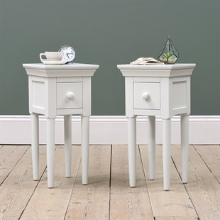 Chantilly Warm White Set of 2 Narrow Bedsides