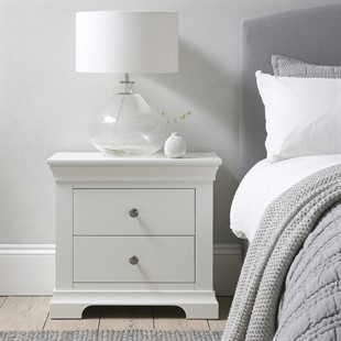Chantilly Warm White Jumbo Bedside