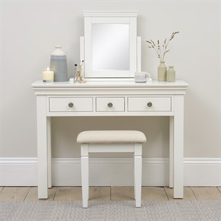 Chantilly Warm White NEW Dressing Table Mirror