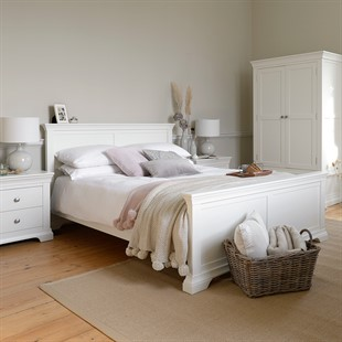 Chantilly Warm White 6ft Super King Bed