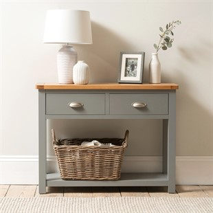 Sussex Storm Grey Console Table