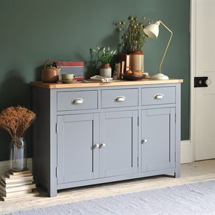 Sussex Storm Grey Large Sideboard