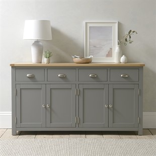 Sussex Storm Grey Extra Large Sideboard