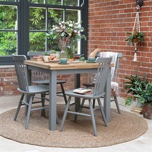 Sussex Storm Grey 90cm-155cm Extending Table