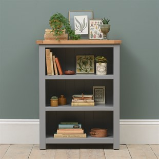 Sussex Storm Grey Small Bookcase