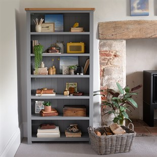Sussex Storm Grey Large Bookcase