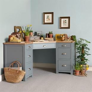 Sussex Storm Grey Corner Desk