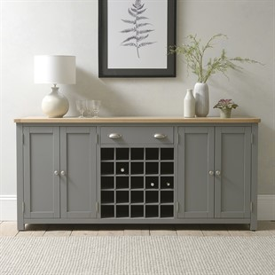 Sussex Storm Grey Extra Large Sideboard with Wine Rack
