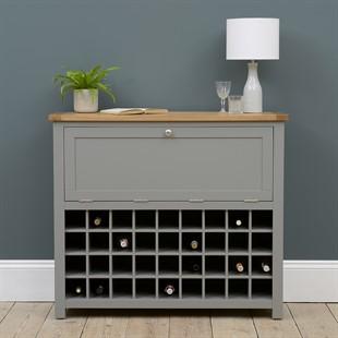 Sussex Storm Grey Drinks Cabinet