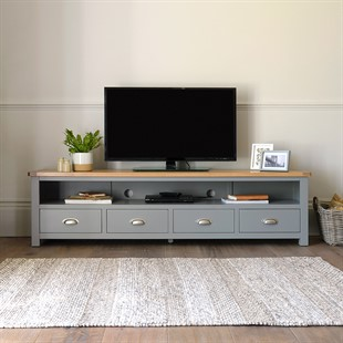 Sussex Storm Grey Extra Large TV Stand - Up to 80''