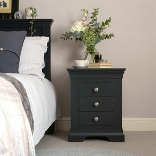 Chantilly Dusky Black Bedside