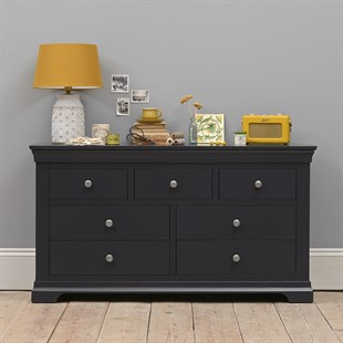 Chantilly Dusky Black 3 Over 4 Chest of Drawers