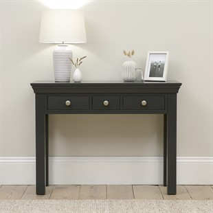 Chantilly Dusky Black Console Desk