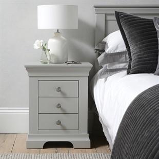 Chantilly Pebble Grey Bedside