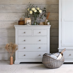 Chantilly Pebble Grey 2 Over 3 Chest