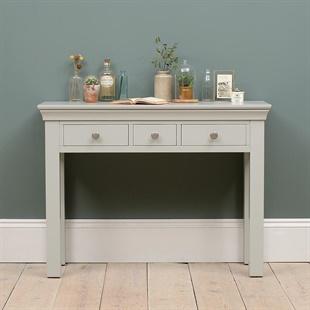 Chantilly Pebble Grey Console Desk
