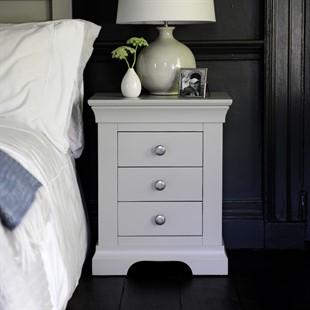 Chantilly Pebble Grey Set of 2 Bedsides