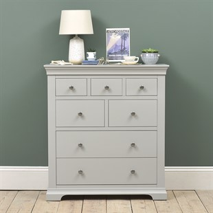 Chantilly Pebble Grey 7 Drawer Chest