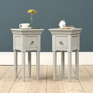 Chantilly Pebble Grey Set of 2 Side Tables