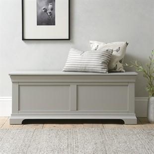 Chantilly Pebble Grey Wide Blanket Box