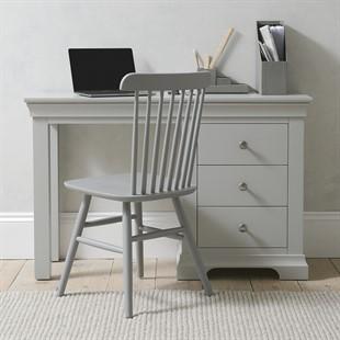 Chantilly Pebble Grey NEW Single Pedestal Dressing Table / Desk